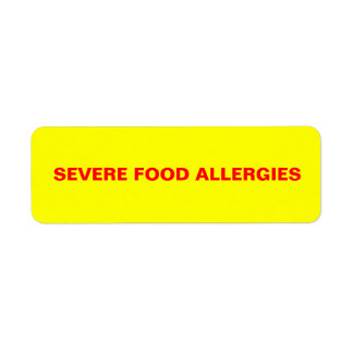 Severe Food Allergies