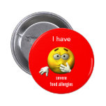Severe food allergies button