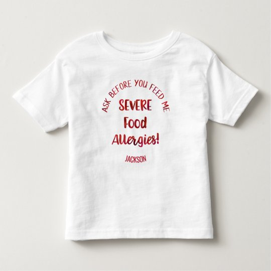 Severe Food Allergies Kids Personalised Don't Feed Toddler