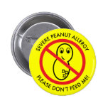 Severe Peanut Allergy Button