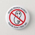 Severe Peanut Allergy Button