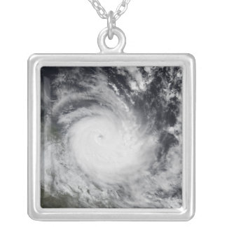 Severe Tropical Cyclone Hamish Silver Plated Necklace