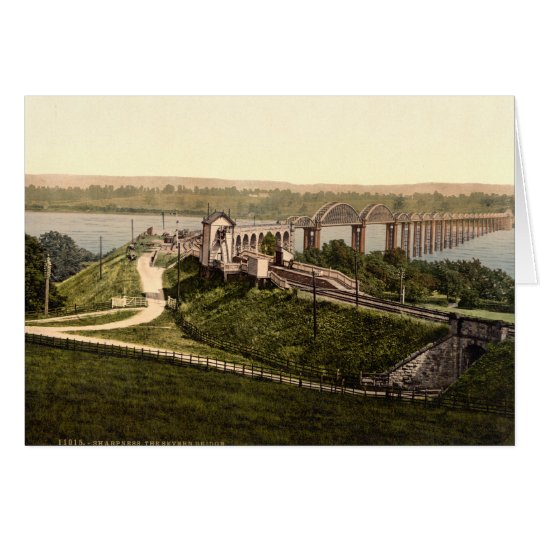 Severn Bridge, Sharpness, Gloucestershire, England Card