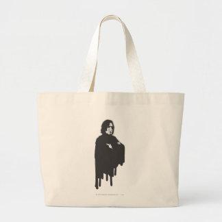 Severus Snape Arms Crossed B-W Jumbo Tote Bag