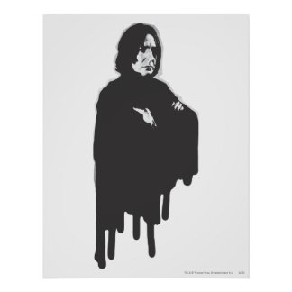 Severus Snape Arms Crossed B-W Poster
