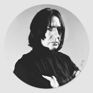 Severus Snape Arms Crossed Classic Round Sticker