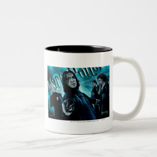 Severus Snape With Death Eaters 1 Two-Tone Mug