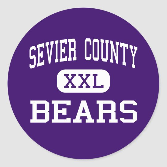 Sevier County - Bears - High - Sevierville Classic Round Sticker