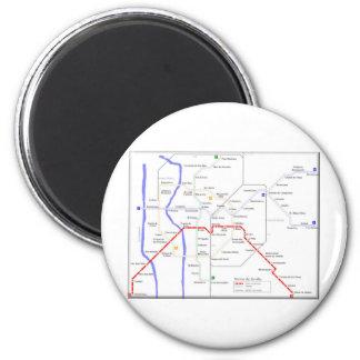 Sevilla Metro Map 6 Cm Round Magnet