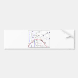 Sevilla Metro Map Bumper Sticker