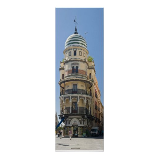 seville adriatica building poster FROM 8.99