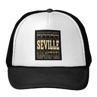 Seville City of Spain Typography Art Trucker Hat