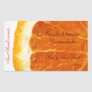 Seville Orange Marmalade label sticker