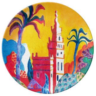 Seville Spain. Plate