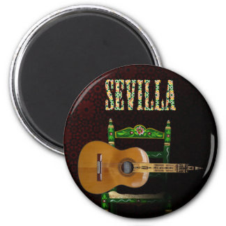 Seville Spanish Guitar with Giralda of Seville Magnet