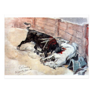 Seville. The bullfight. by Vasily Surikov Postcard