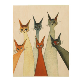 Seville Whimsical Cats Wood Wall Decor
