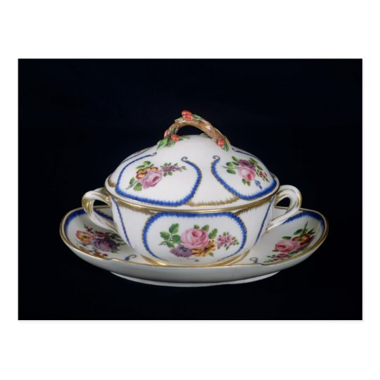 Sevres bowl and plate, 1764 postcard