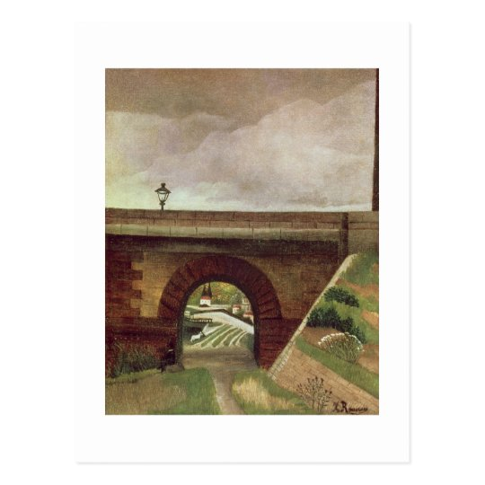 Sevres Bridge (oil on canvas) Postcard
