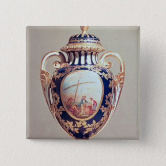 Sevres vase, mid 18th century 15 cm square badge