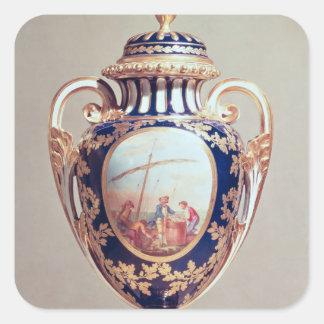 Sevres vase, mid 18th century square sticker