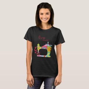 Sew Crafty Sewing Machine Quilt by Mini Brothers T-Shirt