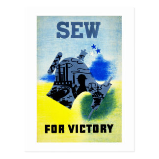 Sew for Victory Postcard