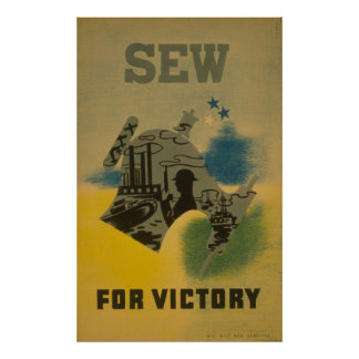 Sew for Victory - WWII Poster