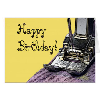 Sew happy birthday card