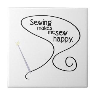 Sew Happy Ceramic Tiles
