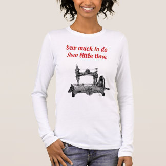 Sew Little Time Illustration Long Sleeve T-Shirt