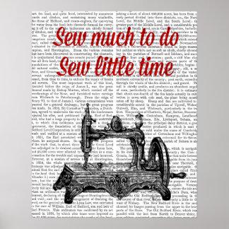 Sew Little Time Illustration Poster