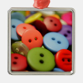 Sew Many Buttons Christmas Ornament