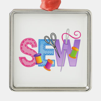 SEW MONTAGE CHRISTMAS ORNAMENT