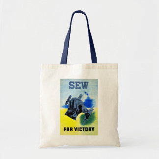 Sew or Victory Budget Tote Bag