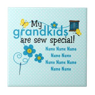Sew Special Grandkids Personalized Tile Trivet