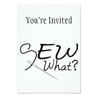 Sew What 5x7 Paper Invitation Card