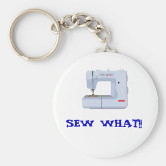 SEW WHAT KEY CHAIN!! BASIC ROUND BUTTON KEY RING