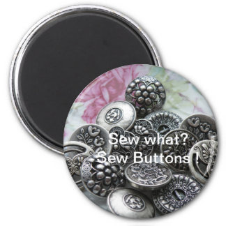 Sew What Sew Buttons Fridge Magnets