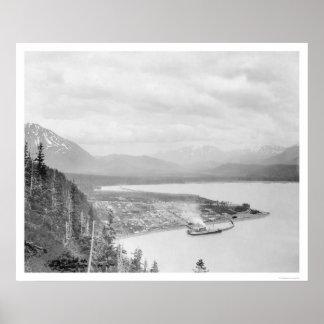Seward, Alaska Panorama 1918 Poster