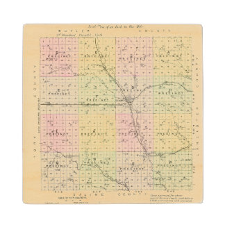 Seward County, Nebraska Maple Wood Coaster