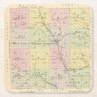 Seward County, Nebraska Square Paper Coaster
