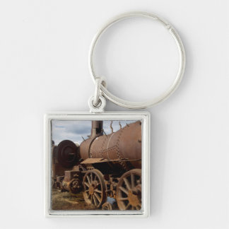 Seward Peninsula, Alaska, Train to Nowhere Silver-Colored Square Key Ring