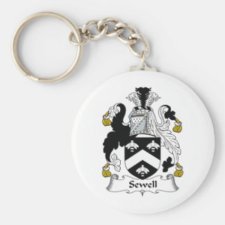 Sewell Family Crest Basic Round Button Key Ring