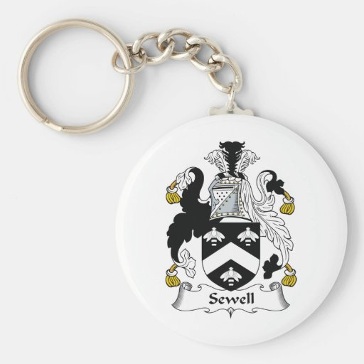Sewell Family Crest Keychains