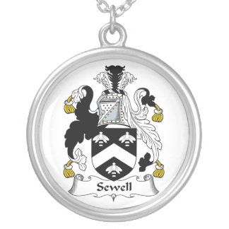 Sewell Family Crest Silver Plated Necklace