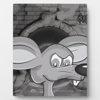 Sewer Rat Cartoon Plaque