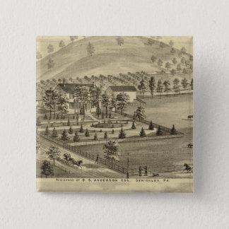 Sewickley Pennsylvania 15 Cm Square Badge