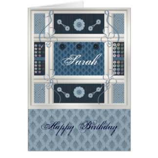 Sewing Addict Greeting Card