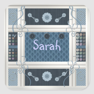 Sewing Addict Square Sticker